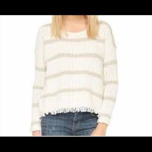 Madewell striped fringed-edge sweater